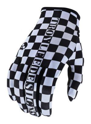 TLD Rękawiczki rowerowe Flowline - Checkers White/Black