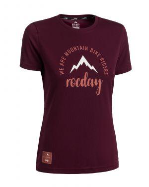 Koszulka damska Monty Burgundy