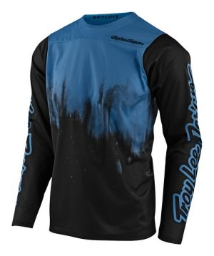 TLD Koszulka rowerowa Skyline LS - Diffuze Blue Bird/Black