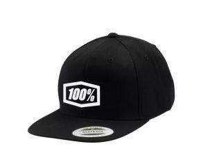 Czapka 100% Essential Snapback Black