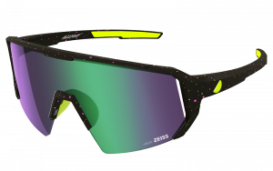 Okulary rowerowe Melon Alleycat - Yellow Paint Splat / Neon Yellow / Purple